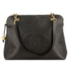 Chanel Black Caviar Leather Jumbo XL Tote Bag (Pre Owned)