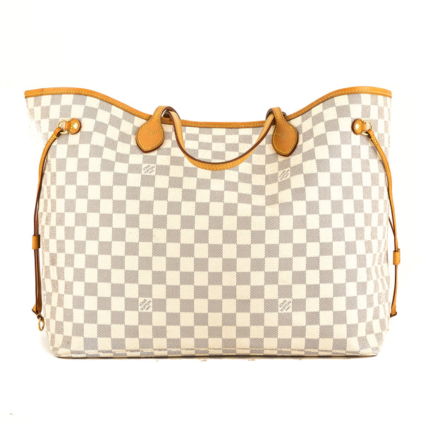 Louis Vuitton Damier Azur Canvas Neverfull GM Bag (Pre Owned ... 5f07d5cc97bc5