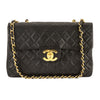 Chanel Black Quilted Lambskin Leather Maxi Classic Flap Bag (Pre Owned)