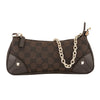 Gucci Dark Brown Leather Monogram Canvas Guccisima Chain Bag (Pre Owned)