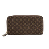 Louis Vuitton Ebene Monogram Mini Lin Canvas Zippy Long Wallet (Pre Owned)