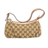 Gucci Pink Leather GG Monogram Canvas Guccisima Pochette Bag (Pre Owned)