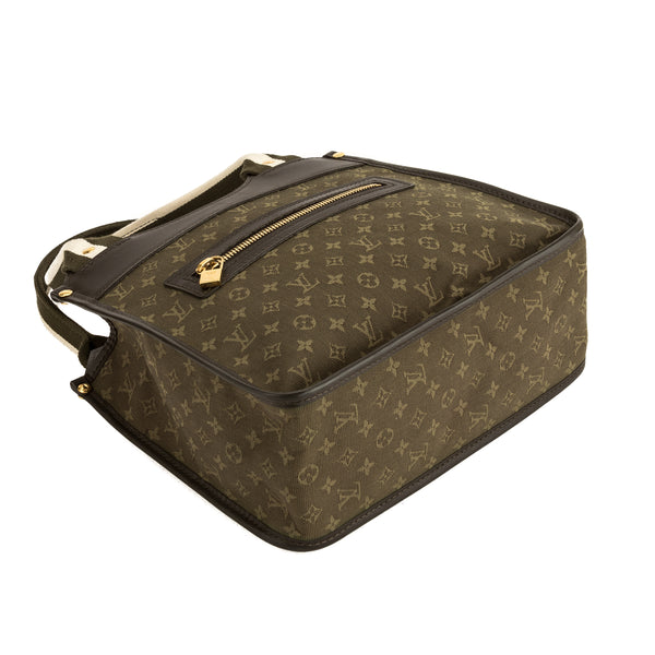 1c12e5007 ... Louis Vuitton Khaki Monogram Mini Lin Canvas Sac Kathleen Bag (Pre  Owned) ...