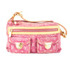 Louis Vuitton Fuchsia Monogram Denim Baggy PM Bag (Pre Owned)