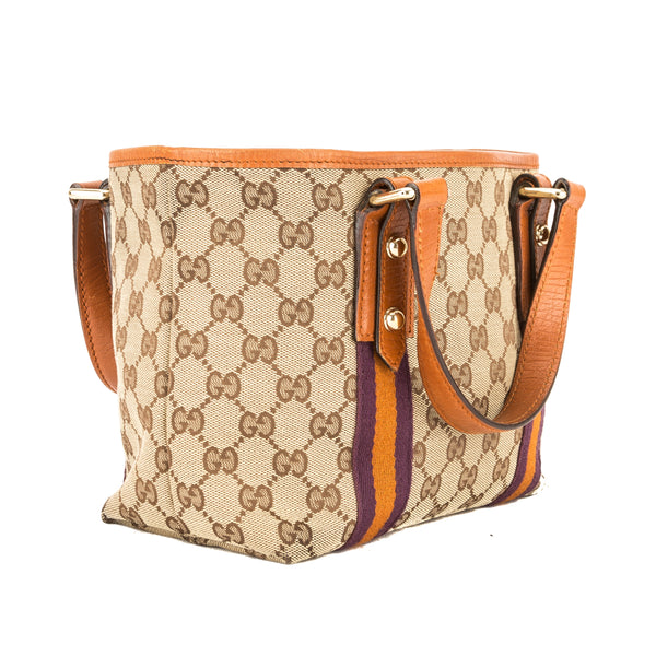 e8ce3fb1794204 ... Gucci GG Monogram Canvas Small Jolicoeur Tote Bag (Pre Owned) ...