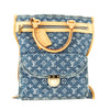 Louis Vuitton Monogram Blue Denim Canvas Flat Shopper Bag (Pre Owned)