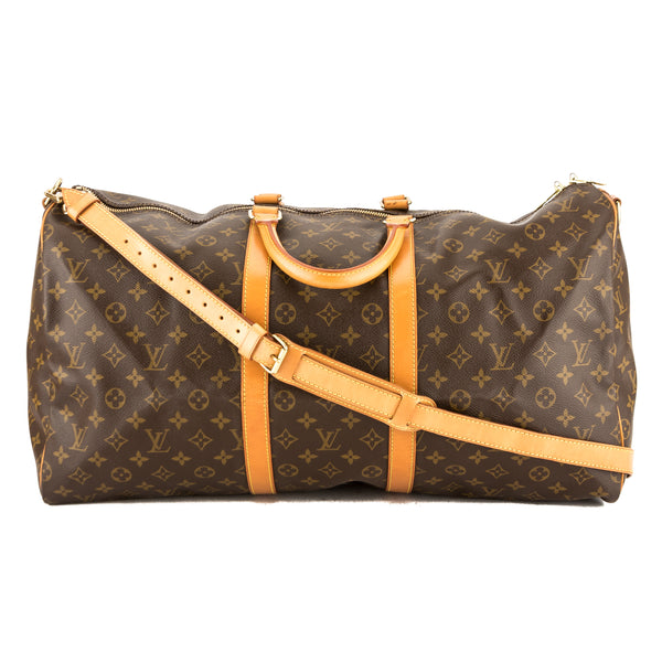 Louis Vuitton Monogram Canvas Keepall Bandouliere 55 Bag (3825028)
