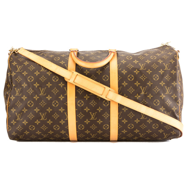 488126f89879 Louis Vuitton Monogram Canvas Keepall Bandouliere 55 Bag (Pre Owned ...