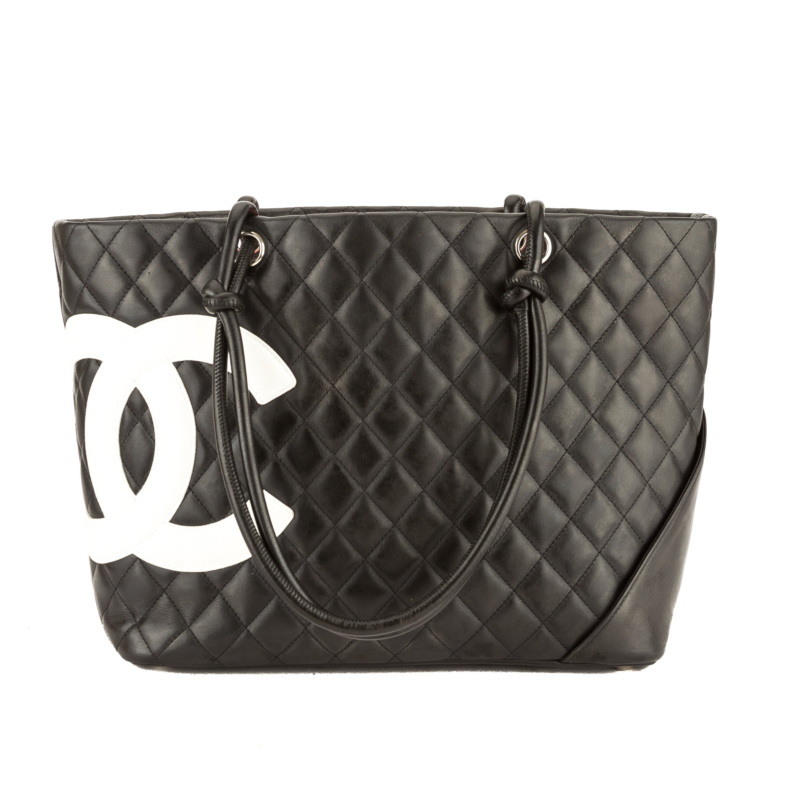 67457022effa23 Chanel Black Quilted Calfskin Leather Cambon Ligne Large Tote Pre Owned