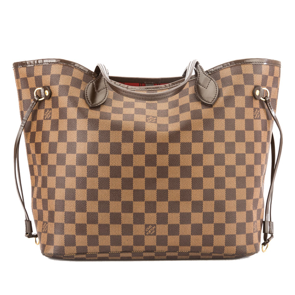 Louis Vuitton Damier Ebene Canvas Neverfull MM Bag (Pre Owned ... d8319f4243a88