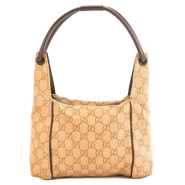 f5c3727f2252 Gucci Brown GG Tan Monogram Tote (3863007) - 3863007 | LuxeDH
