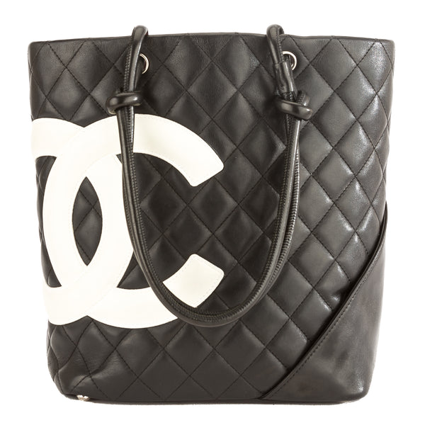 8546aa6b74d5 Chanel Black Quilted Calfskin Leather Cambon Ligne Medium Tote Pre Owned