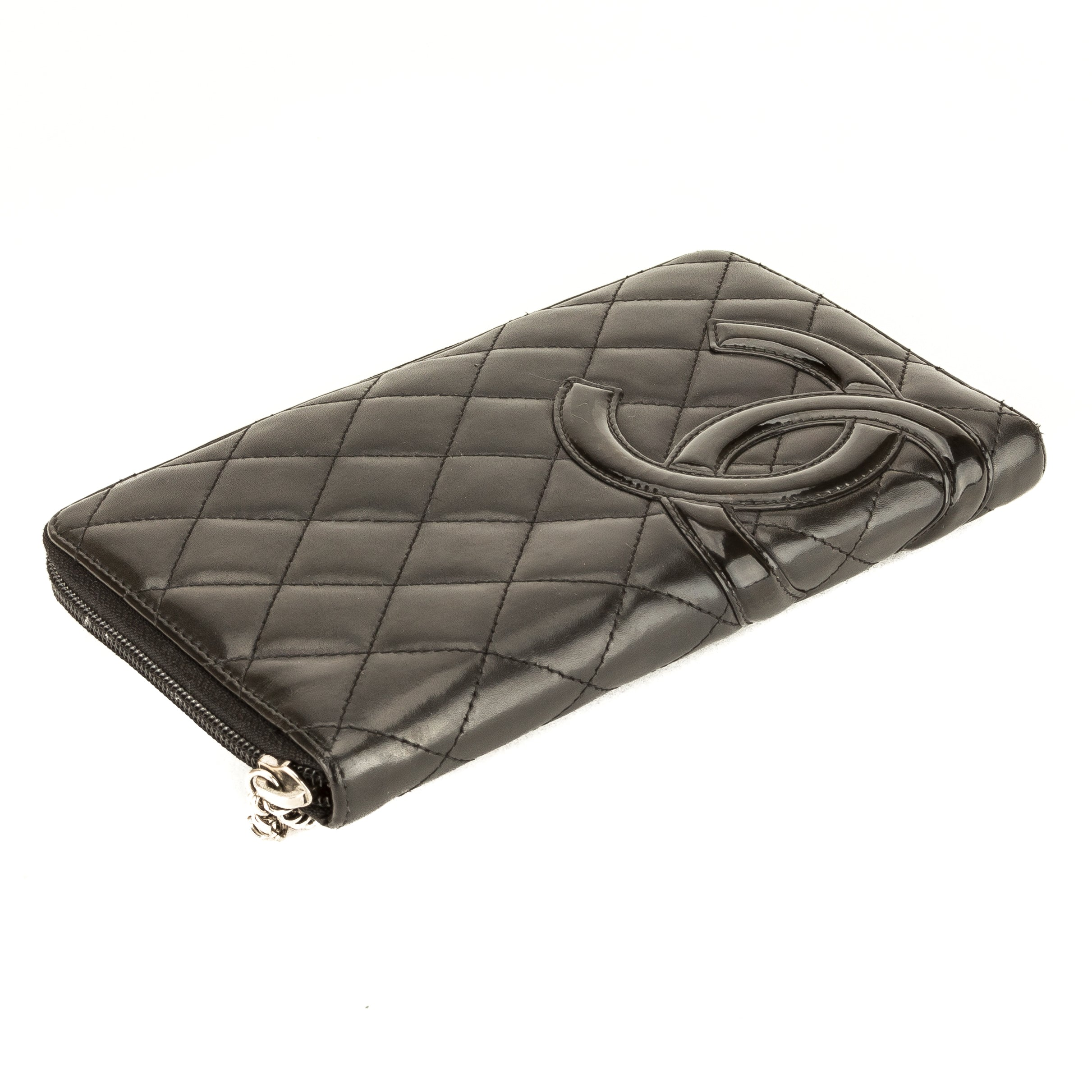 310d70692216 Chanel Black Quilted Lambskin Leather Cambon Ligne Zip Wallet (Pre Own -  3891003 | LuxeDH