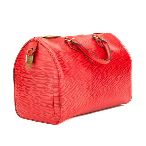 a858961d1d ... Louis Vuitton Castillian Red Epi Leather Speedy 30 Bag (Pre Owned) ...