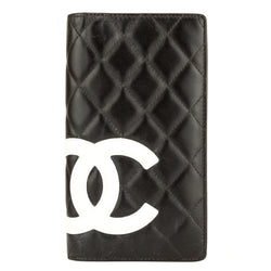 Chanel Black Quilted Lambskin Cambon Line Yen Wallet (4025001)