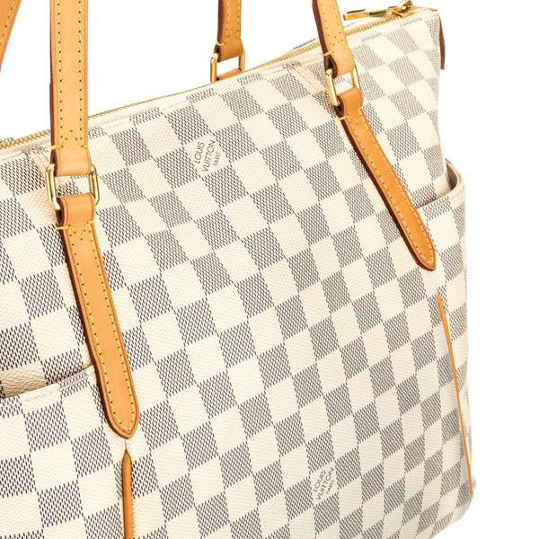 Louis Vuitton Damier Azur Canvas Totally MM Bag (Pre Owned)
