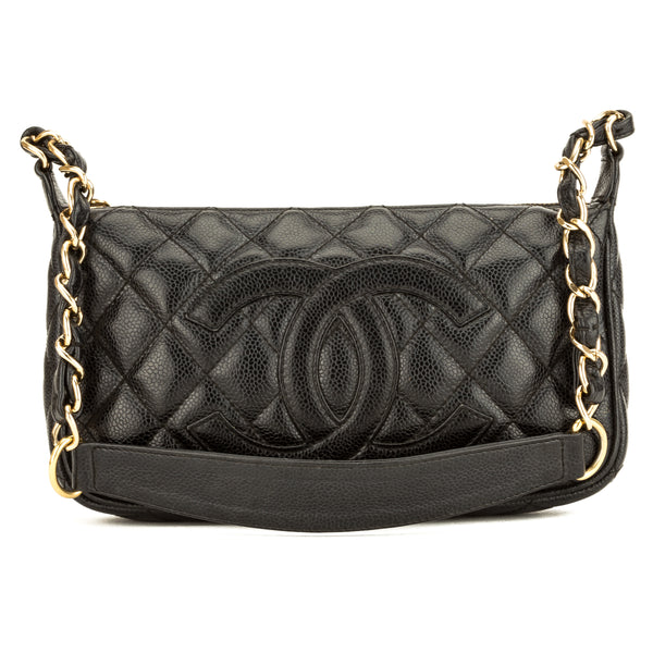 Chanel Black Quilted Caviar Small ShoulderBag (3901001)