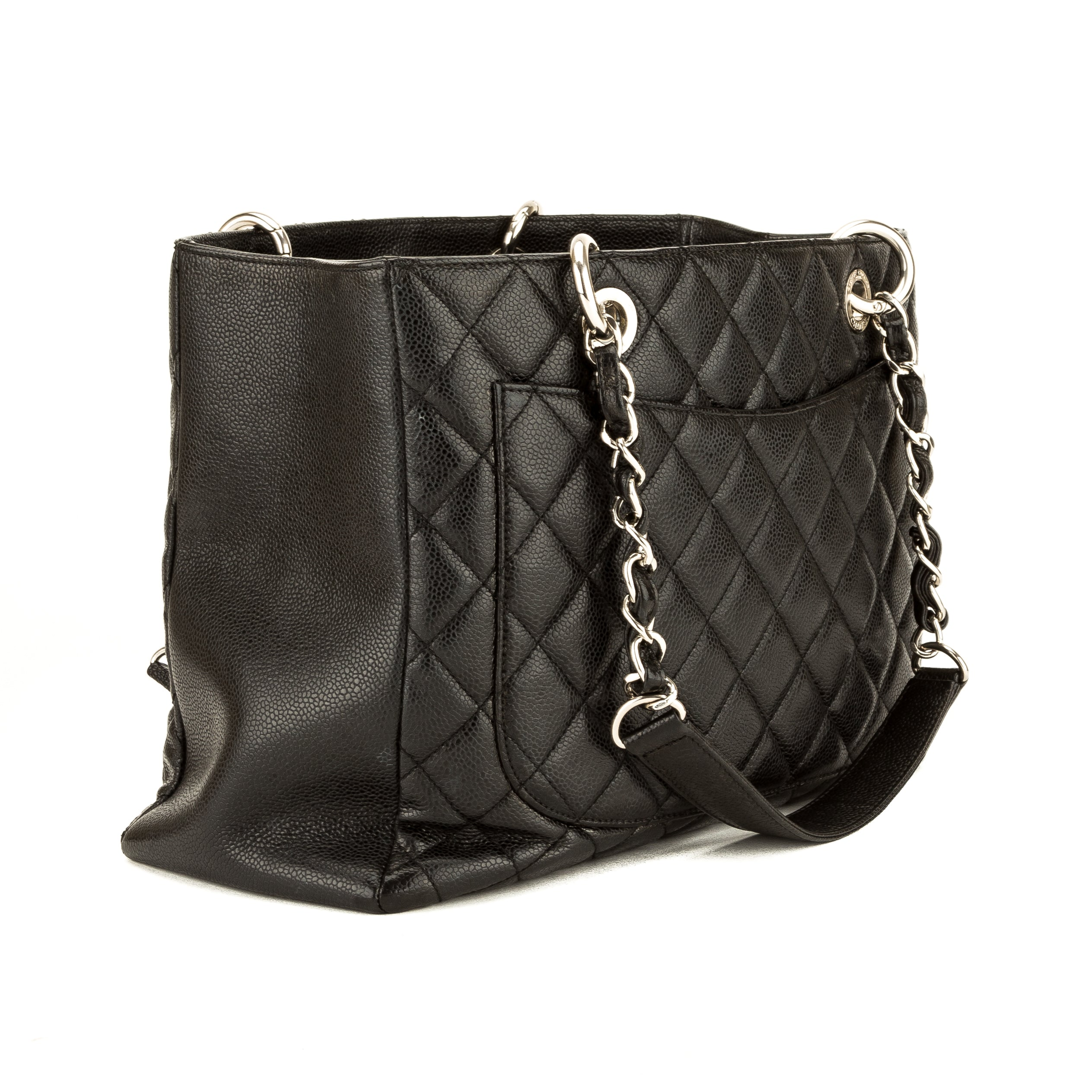 e027674625ef Chanel Black Quilted Caviar Leather Grand Shopping Tote GST (3901007 ...