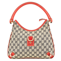 Gucci Red Leather GG Monogram Abbey D-Ring Hobo (3909006)