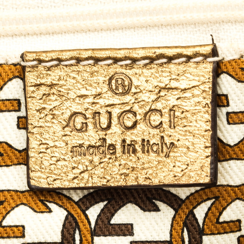 Gucci Gold GG Monogram Medium Princy Boston (3909016)
