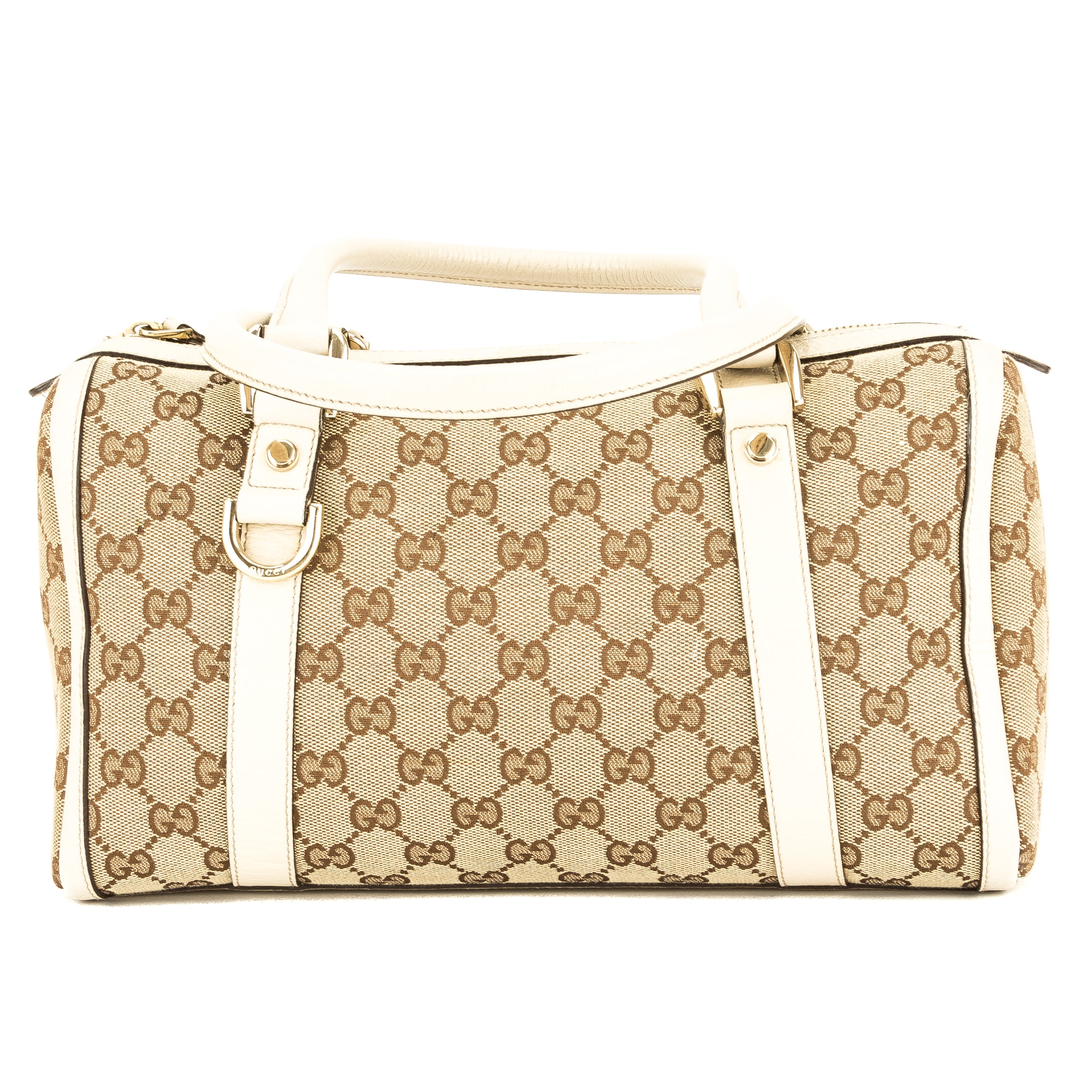 d635fded585 Gucci Ivory Leather GG Small Abbey Boston (3912017) - 3912017