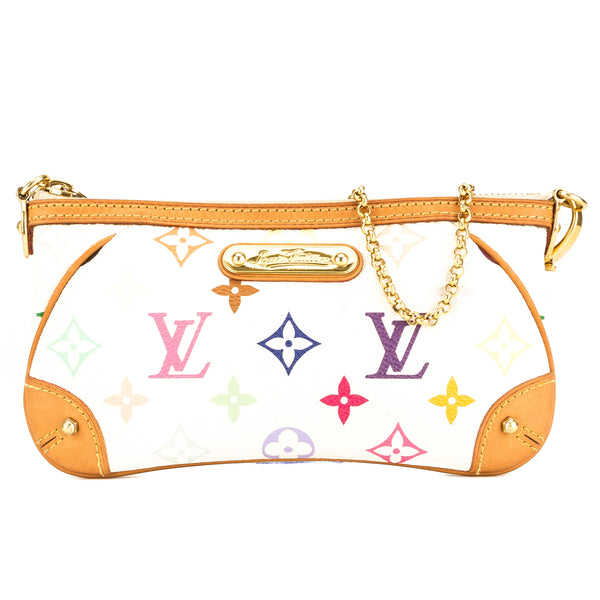 Louis Vuitton White Monogram Multicolore Pochette Milla MM (3922004 ... 1944713621e92