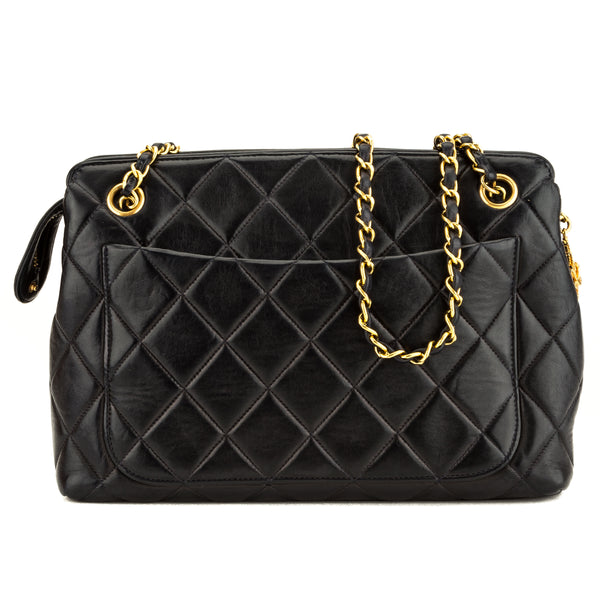 Chanel Navy Quilted Lambskin Vintage Shoulder (3924011)