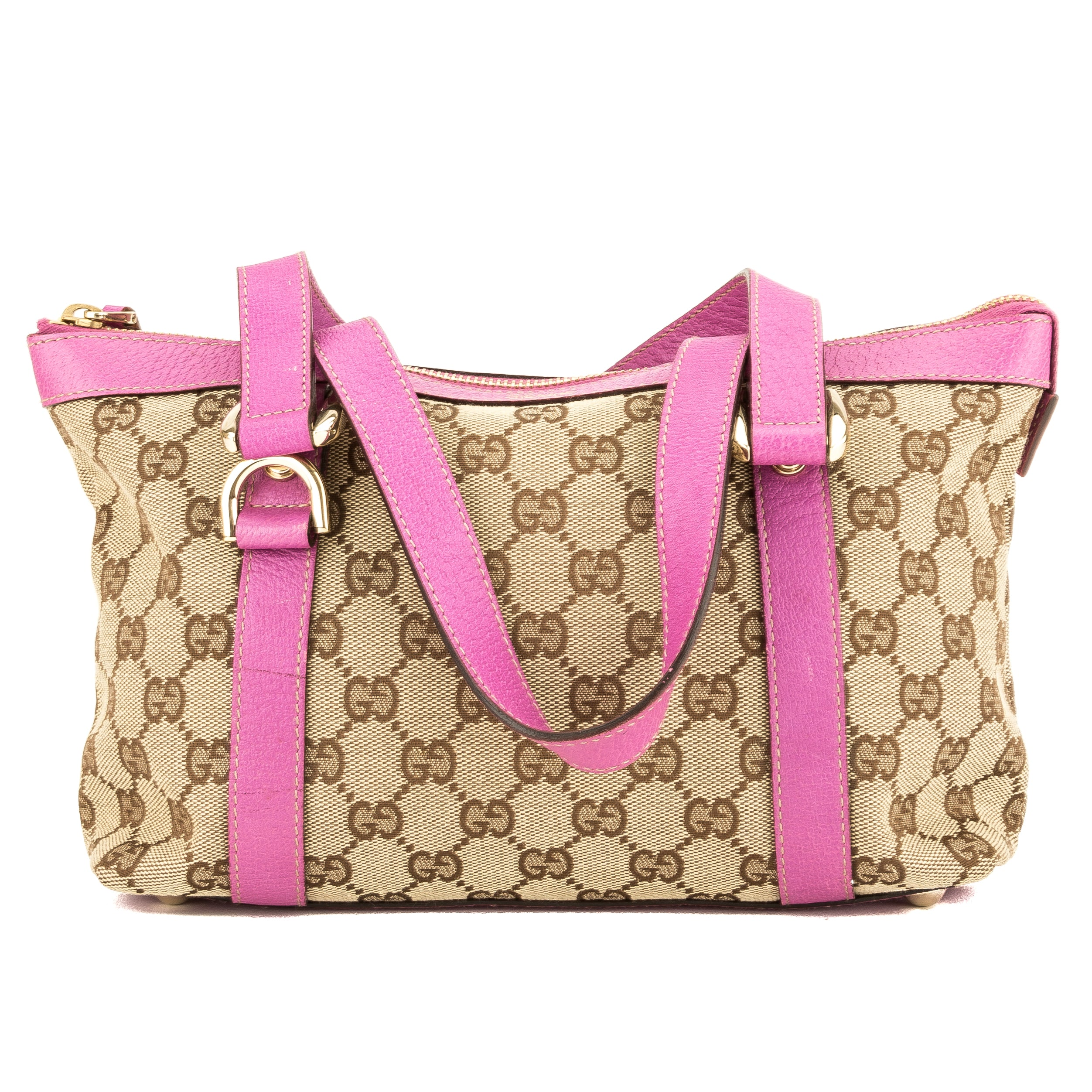 eb2ada8b0fb4ed Gucci Pink Leather GG Monogram Small Abbey D-Ring Tote (3945012 ...