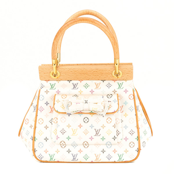 Louis Vuitton White Multicolore Monogram Satin Abelia (3950006)