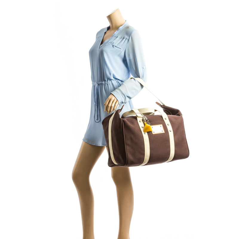 Louis Vuitton Mocca LV Cup Antigua Sac Weekend (3950015)