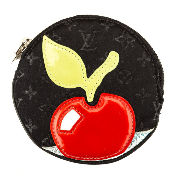 Louis Vuitton Black Monogram Satin Conte De Fees Round Coin Purse (3950021)