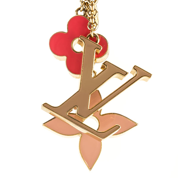 Louis Vuitton Beige/Pink Fleur De Monogram Bag Charm (3953034)