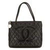 Chanel Black Quilted Caviar Medallion Tote (3969021)