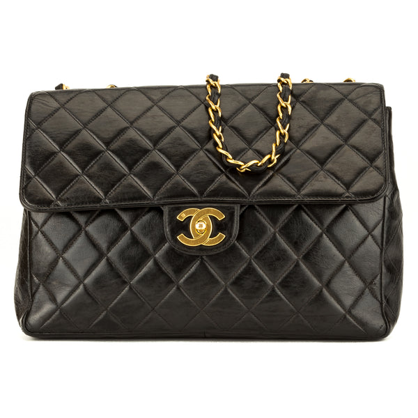 915a89494d43 Chanel Black Quilted Lambskin Jumbo Classic Flap (3974005) - 3974005 ...