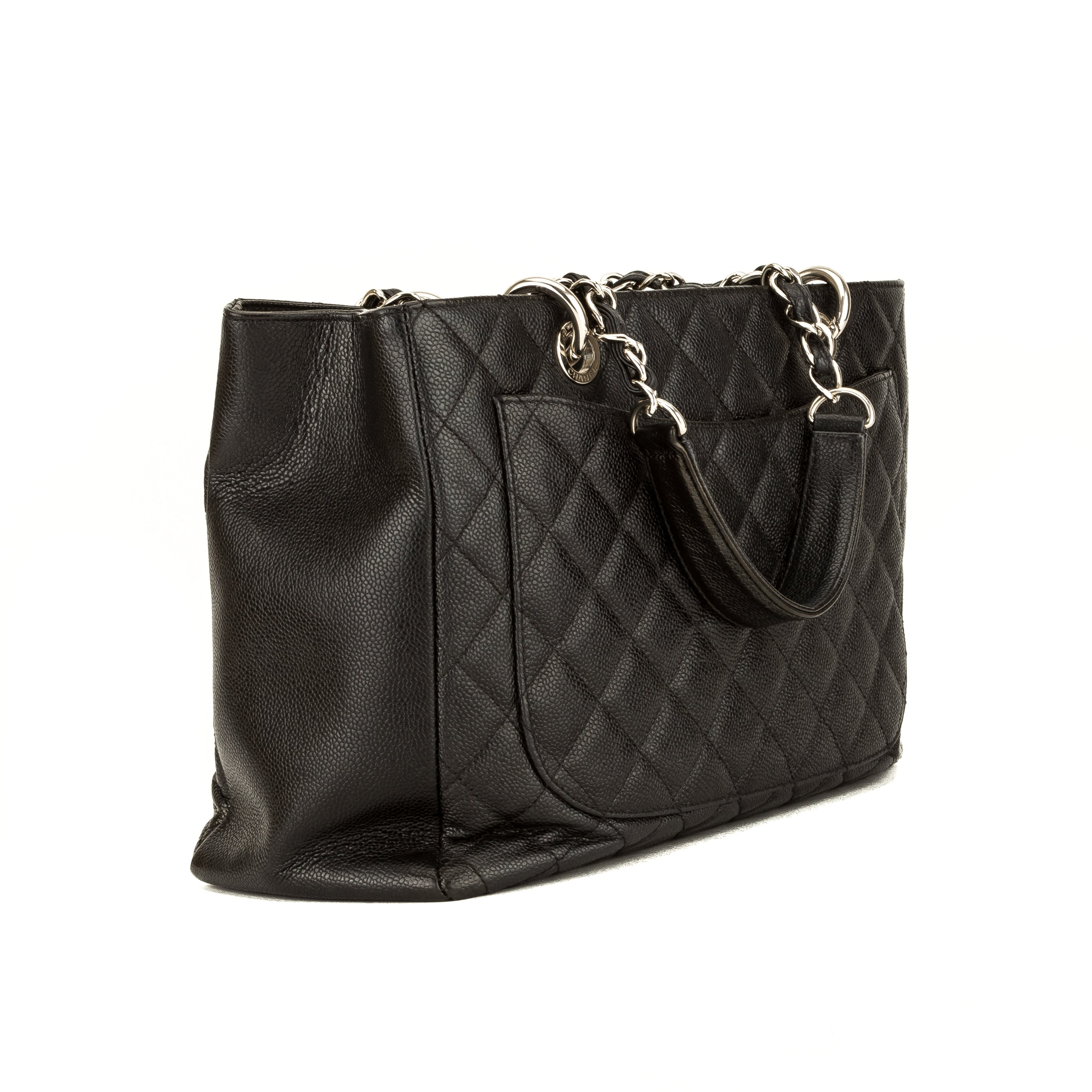 026869092ab2 Chanel Black Quilted Caviar Grand Shopping Tote GST (3974006 ...
