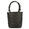 Chanel Black Quilted Calfskin Cambon Ligne Small Tote (3974008)