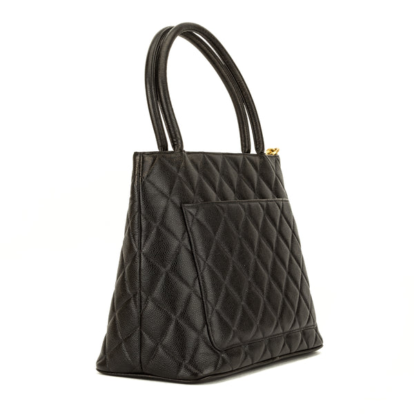 Chanel Black Quilted Caviar Medallion Tote (3974010)