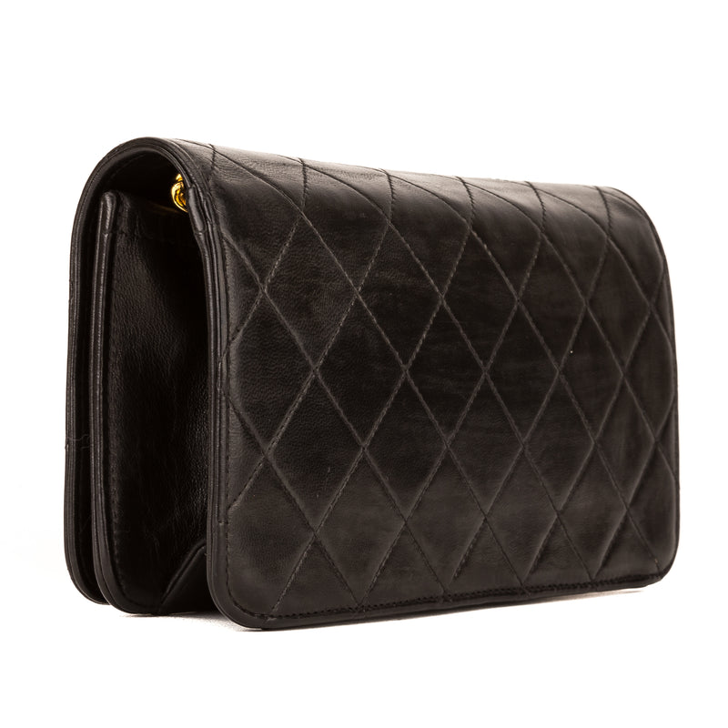 Chanel Black Quilted Lambskin Chain Clutch (3996003)