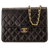 Chanel Black Quilted Lambskin Chain Clutch (3996004)