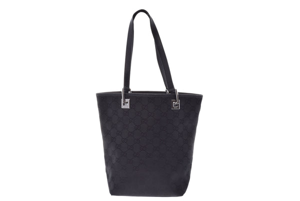 Gucci Black Canvas GG Monogram Tote Bag (SHA23351)
