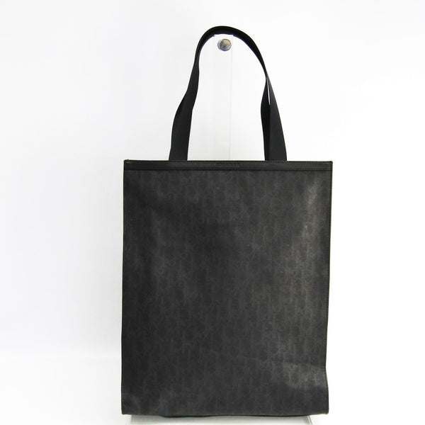 Dior Black Printed Canvas Leather Tote (SHA-28034)