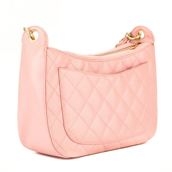 Chanel Pink Quilted Caviar Chain Shoulder (4005009)