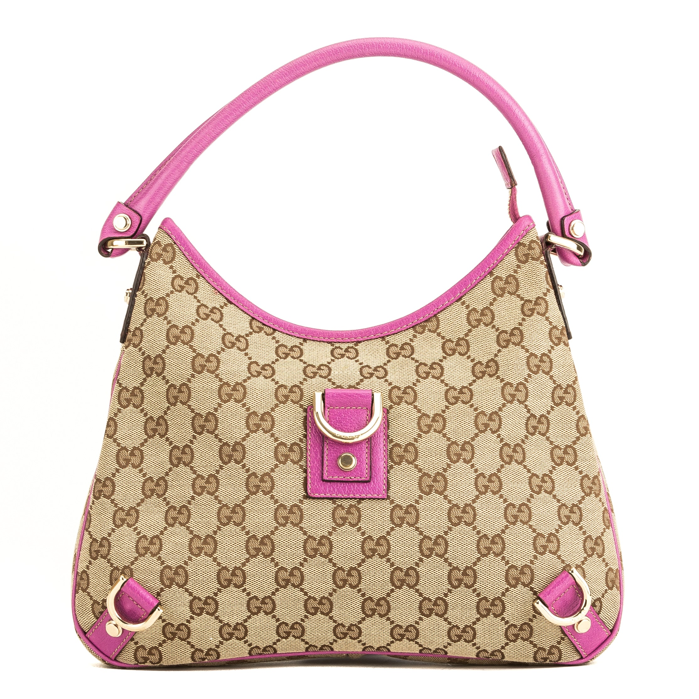 69806be9b868 Gucci Pink GG Monogram Abbey Hobo (4018011) - 4018011 | LuxeDH