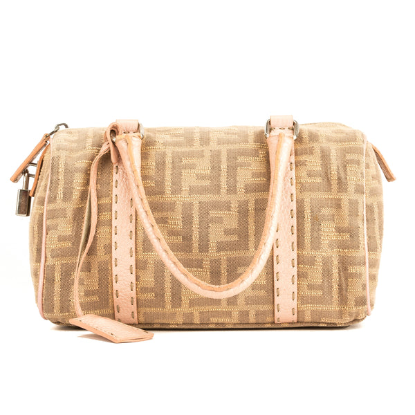 Fendi Pink Selleria Zucca Mini Boston (4018015)