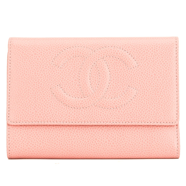 af4415e25663 Chanel Pink Calfskin CC Trifold Wallet (4028003) - 4028003 | LuxeDH