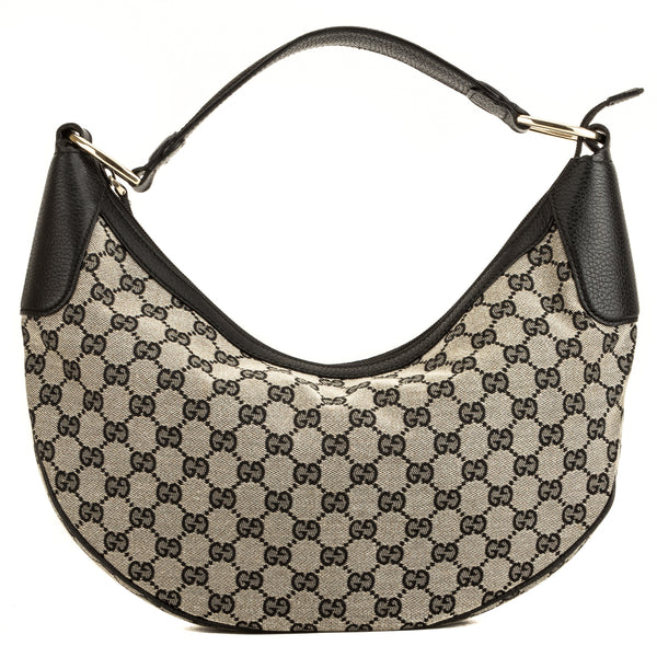 2cfef377a50b2e Gucci Black/White GG Monogram Half Moon Hobo (4039017) - 4039017 ...