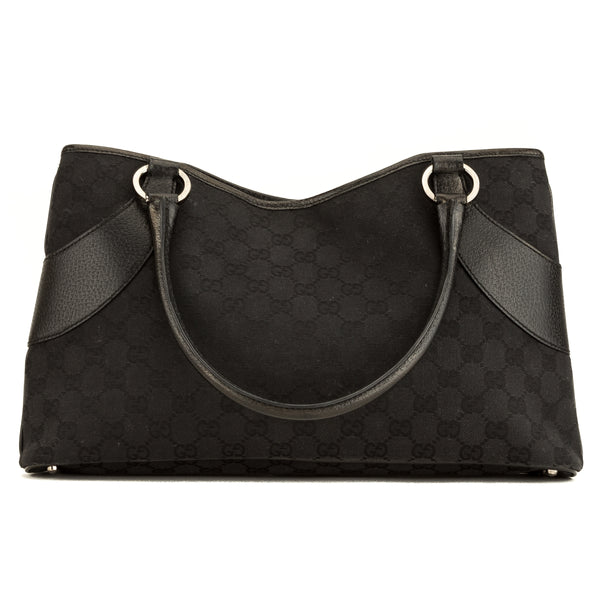 f798852f2950ff Gucci Black GG Monogram Canvas Tote Bag (4043006) - 4043006 | LuxeDH