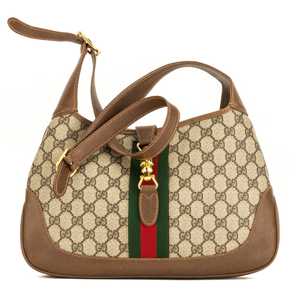 2869410521a7 Gucci Brown GG Supreme Vintage Jackie (4049002) - 4049002 | LuxeDH