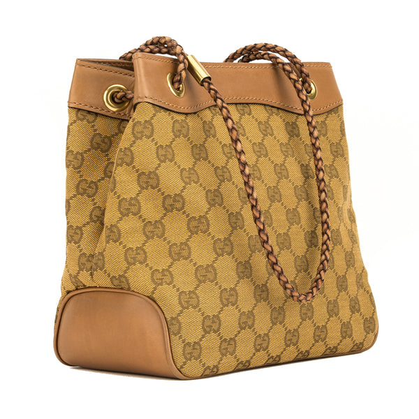 Gucci Tan GG Monogram Bucket Bag (4056004)