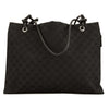 Gucci Black Leather GG Large Shoulder Bag (4064002)